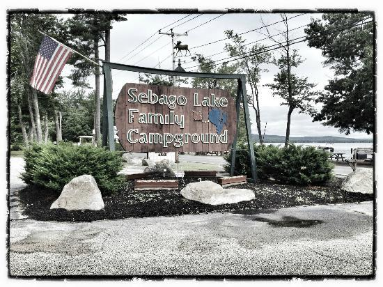Sebago Lake Family Campground Sign