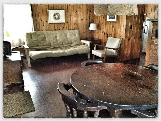 Sebago Lake Family Campground: Cottage #1 (Living Room)