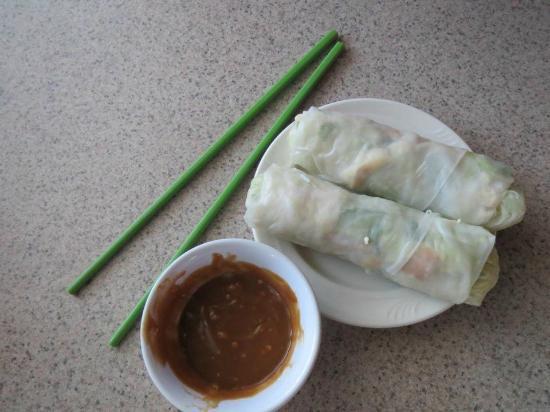 Green Papaya: Vegetarian Spring Rolls