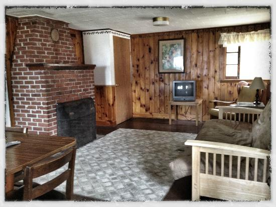 Sebago Lake Family Campground: Cottage #6 (Living Room)