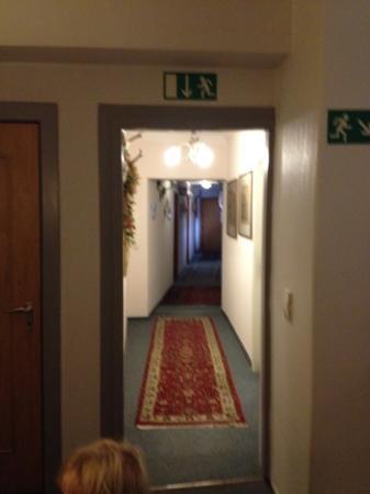 Hotel Freese: hotelgang på 1. sal