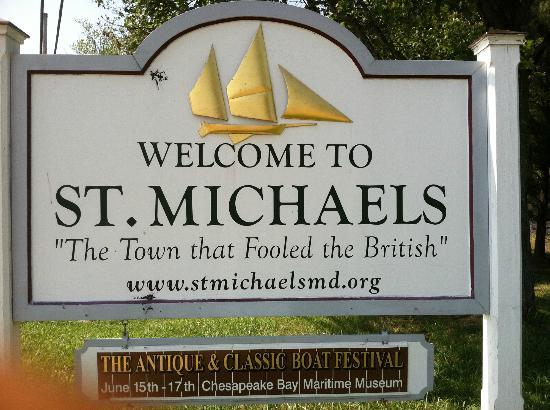 Tilghman Island: St Michaels...Welcome Sign.