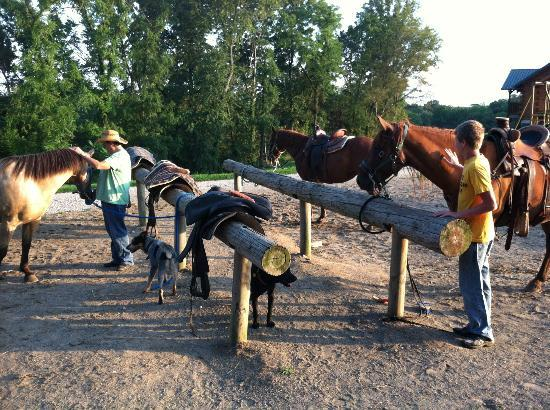 KD Guest Ranch: Hitching Posts