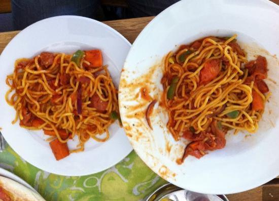 Pizzeria & Spaghetti house Don Andro: Spicy spaghetti: with one plate can eat 2 people