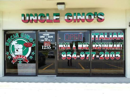 Uncle Gino's Pizza: Store Front