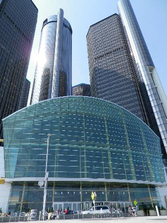 Detroit Marriott at the Renaissance Center: GM HQ / Renaissance.  The Marriott is the taller round tower