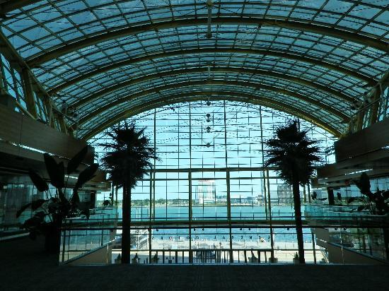 Detroit Marriott at the Renaissance Center: View of Canada from the south court of the Renaissance Center
