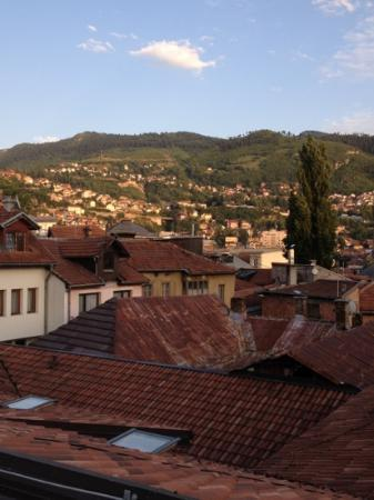 ETN Hotel: Amazing views of Sarajevo, from the hotel's car park!