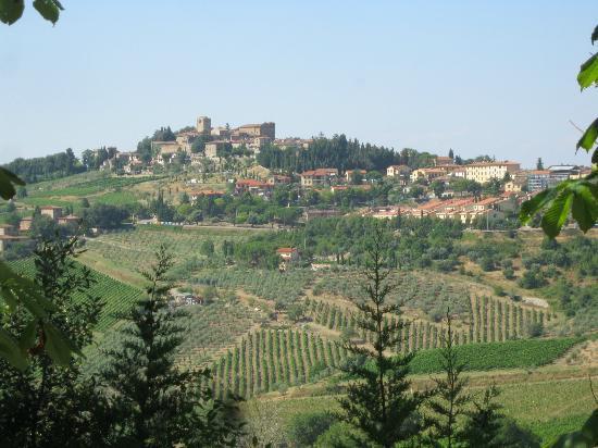 Villa Le Barone: Panzano from the Villa