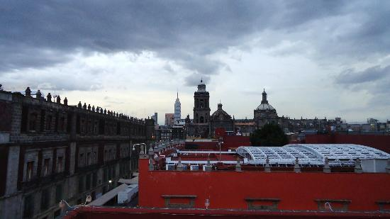 Hostel Moneda: Vista desde la terraza.