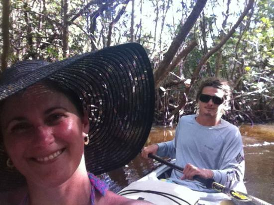 Adventure Sea Kayak: Keith and I in the trail!
