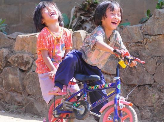 Akha Village Children Chiang Rai Province