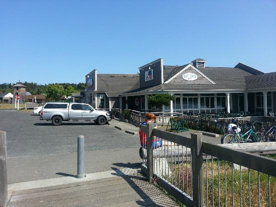 Bay Cafe: From Coast - the beach is behind me.  Great Location.