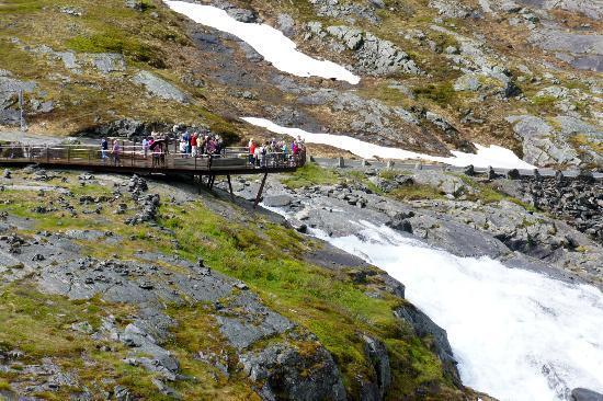 Viewing platform at Trollstigen visitors' center