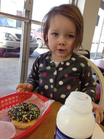 donuts with sprinkles at donut palace