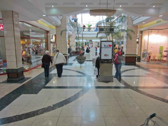 Open spaces inside Cresta Shopping Centre