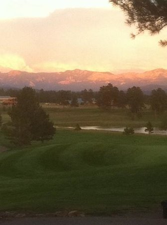 Pagosa Springs Golf Club: August sunset over the course
