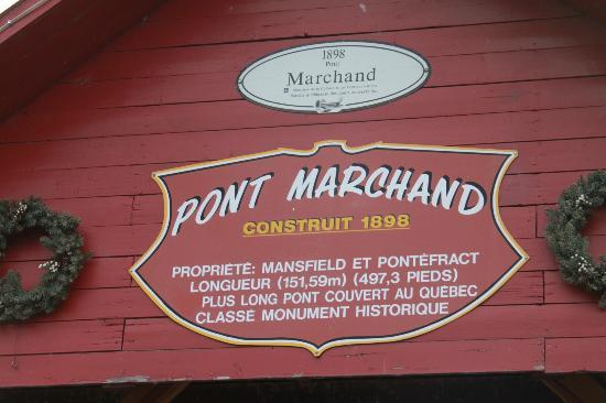 Marchand Bridge: bridge sign