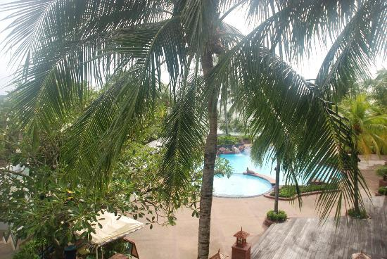 Diamond Cliff Resort and Spa: view from room over one of the pools 