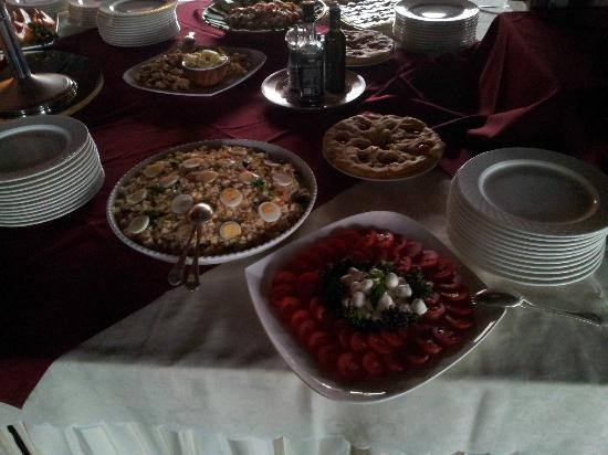 Relais delle Picchiaie: Büffet Abendessen