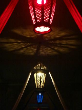 Club Med Marrakech La Palmeraie: Morrocan lamps + decorations for 14th of July