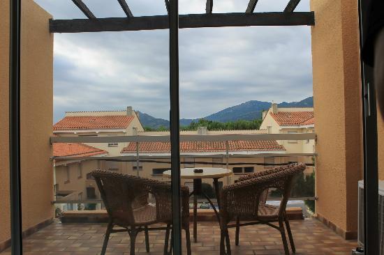 Hotel Le Maritime : Le balcon donnand sur les Pyrenées