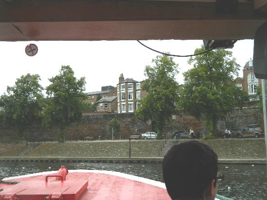 Chester Recorder House: View from river trip boat