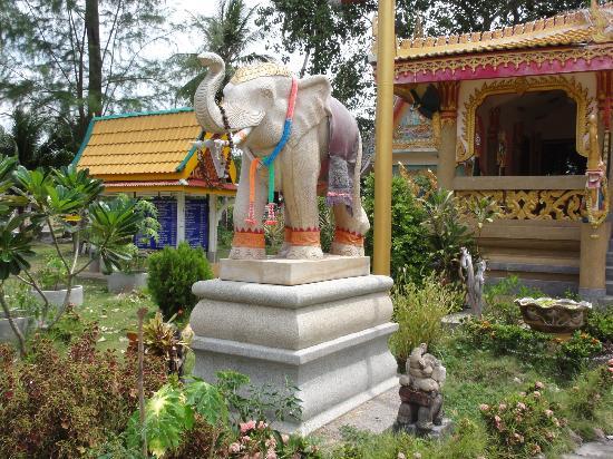 Wat Kiri Wongkaram: éléphants
