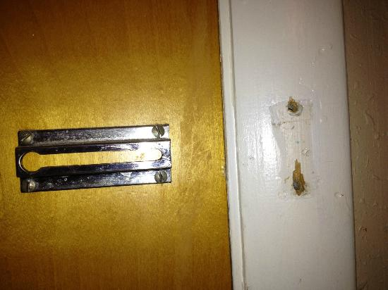 Econo Lodge Inn & Suites Old Saybrook: Missing Security Lock