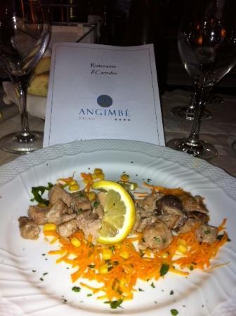 Relais Angimbe: dit is het voorgerecht aan tafel