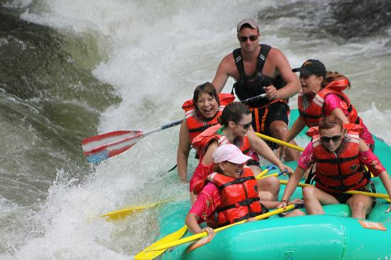 Rolling Thunder River Company: We all stayed in the tube and no one fell out