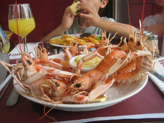 Hotel Hamiot: Chilled langoustines