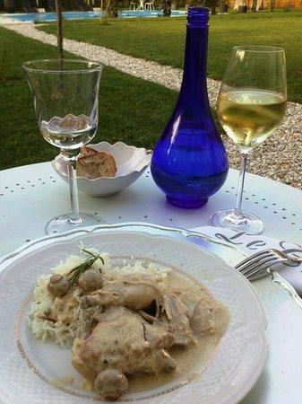 Le Chai de Villiers : Le dîner ; un excellent poulet