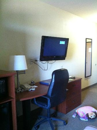 Sleep Inn & Suites: flat screen TV able to swing to view from any spot in room