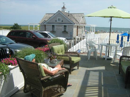 Inn On The Beach: The best seat in the house!