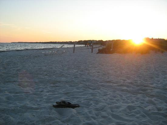 Inn On The Beach: The beach at sunset