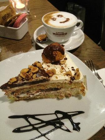Oblico Cafe' : Not sure which cake, but it's so good and in the display case daily
