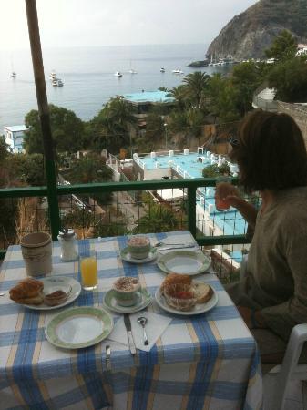 Hotel Villa Franz: colazione vista mare