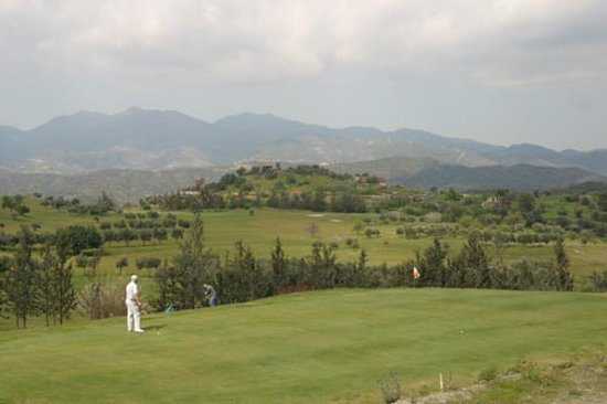 Limassol, Siprus: The view from behind the 9th green in the winter.