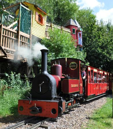 Coleford, UK: Treehouses Trains and Treasure at Perrygrove