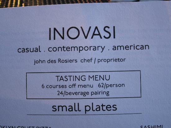 Inovasi: Modern menu changes frequently
