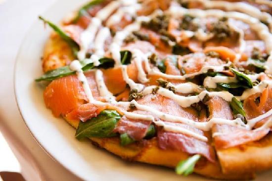 Astaria: Smoked Salmon Pizza