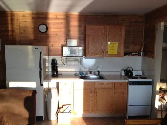 Grand View Lodge Motel & Resort: kitchenette