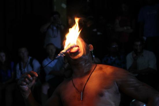 Kandyan Dance Performance: Fire act