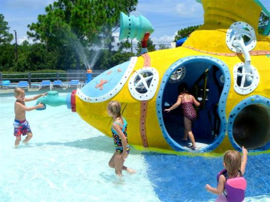 Shipwreck Island Waterpark Kids Area Submarine Slide