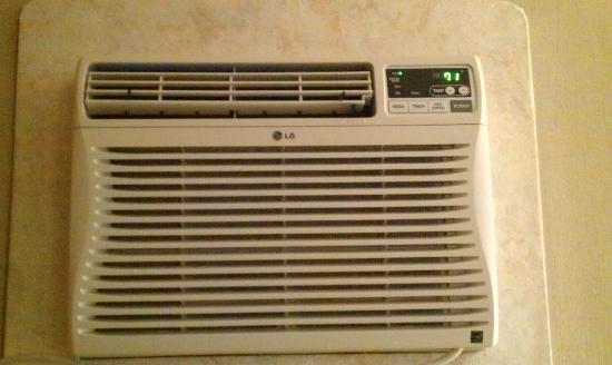 Paintbrush Motel: remote control LG air conditioner