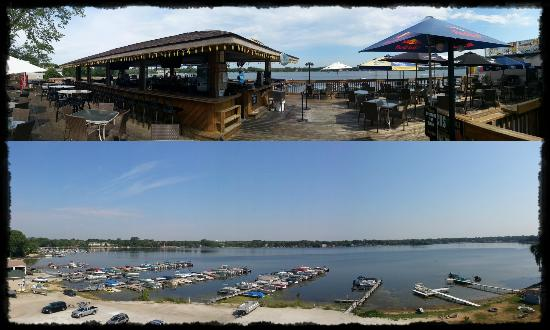 Docks Bar & Grill: The Deck and the view...