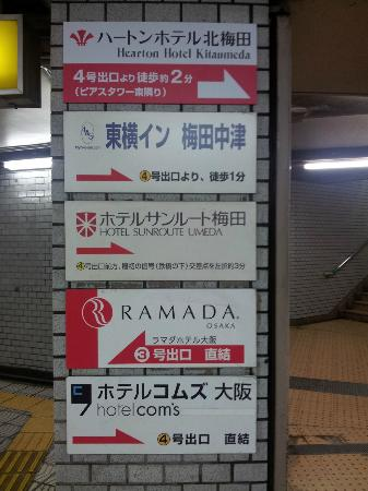 Hearton Hotel Kitaumeda: Some signs inside Nakatsu station that are not that helpful at all...