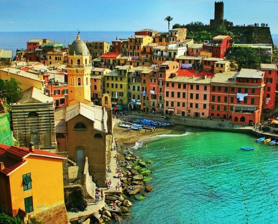 Casarza Ligure, Italien: Vernazza from above