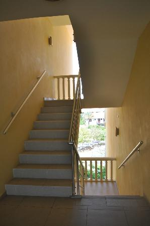Blue Bay Curacao: the stairs in the apartments on the hill